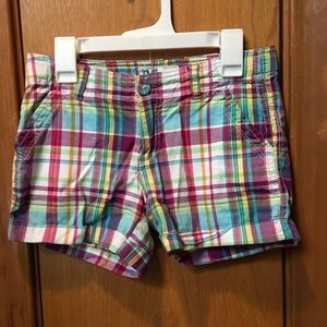 P.S. by Aeropostale Girls size 10 plaid shorts